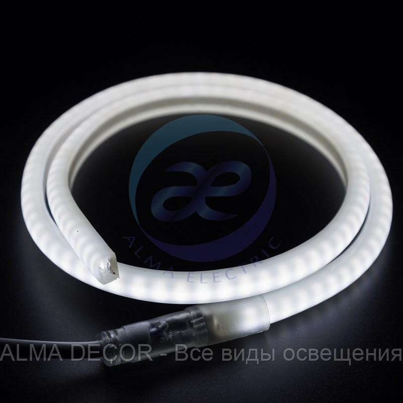 Гибкий Неон LED SMD, форма - D, белый, 120 LED/м, бухта 100м