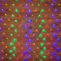"""Гирлянда """"Сеть"""" 1,5х1,5м, прозрачный ПВХ, 150 LED Мультиколор, фото 1"""