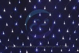 """Гирлянда """"Сеть"""" 2х0,7м, черный ПВХ, 176 LED Белые/Синие"""