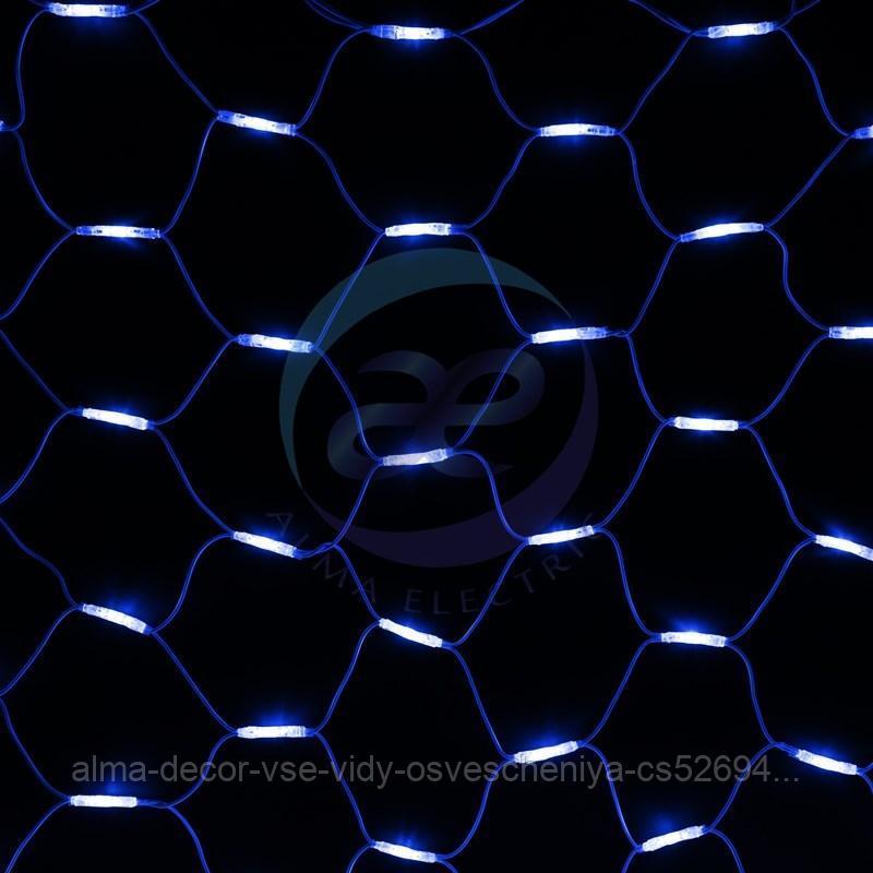 """Гирлянда """"Сеть"""" 2x3м, белый КАУЧУК, 432 LED Белые/Синие"""