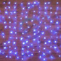 """Гирлянда """"Светодиодный Дождь"""" 1,5х1,5м, свечение с динамикой, прозрачный провод, 230 В, диоды СИНИЕ"""