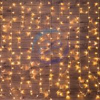 """Гирлянда """"Светодиодный Дождь"""" 2,5x2 м, свечение с динамикой, прозрачный провод, 230 В, диоды ТЕПЛЫЙ БЕЛЫЙ, фото 1"""