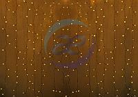 """Гирлянда """"Светодиодный Дождь"""" 2х1,5м, постоянное свечение, прозрачный провод, 230 В, диоды ЖЁЛТЫЕ, 192 LED"""