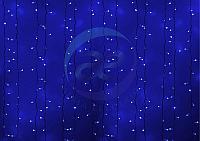 """Гирлянда """"Светодиодный Дождь"""" 2х1,5м, постоянное свечение, белый провод, 230 В, диоды СИНИЕ, 360 LED"""