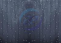 """Гирлянда """"Светодиодный Дождь"""" 2х3м, постоянное свечение, прозрачный провод, 230 В, диоды БЕЛЫЕ, 448 LED"""