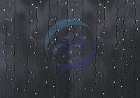 """Гирлянда """"Светодиодный Дождь"""" 2х6м, постоянное свечение, черный провод, 230 В, диоды БЕЛЫЕ, 1500 LED"""