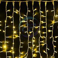 """Гирлянда """"Светодиодный Дождь"""" 2х1,5м, постоянное свечение, белый провод """"КАУЧУК"""", 230 В, диоды ЖЁЛТЫЕ, 360 LED"""