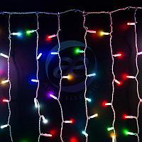 """Гирлянда """"Светодиодный Дождь"""" 2х1,5м, прозрачный провод, 230 В, диоды RGB, 300 LED свечение с динамикой при, фото 1"""