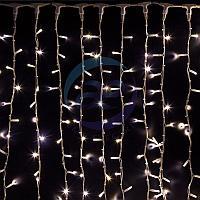 """Гирлянда """"Светодиодный Дождь"""" 2х3м, постоянное свечение, белый провод """"КАУЧУК"""", 230 В, диоды БЕЛЫЕ, 760 LED, фото 1"""
