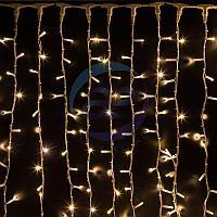 """Гирлянда """"Светодиодный Дождь"""" 2х3м, постоянное свечение, белый провод """"КАУЧУК"""", 230 В, диоды ТЕПЛЫЙ БЕЛЫЙ, 760, фото 1"""