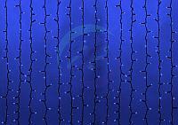 """Гирлянда """"Светодиодный Дождь"""" 2х6м, эффект водопада, черный провод, 230 В, диоды СИНИЕ, 1500 LED"""