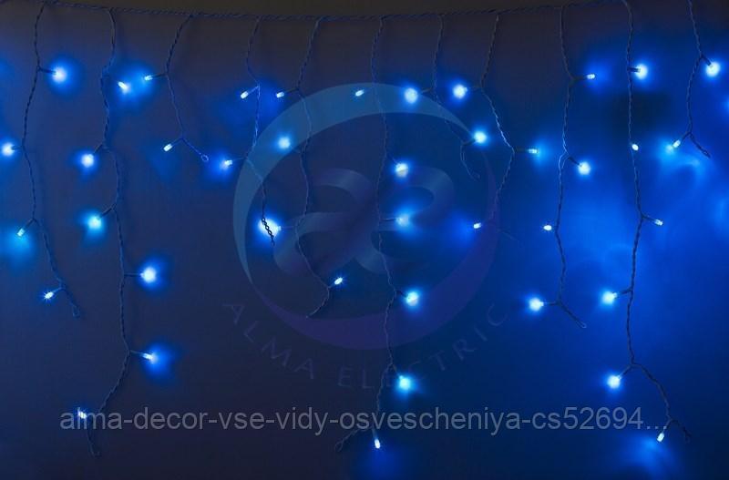 Гирлянда Айсикл (бахрома) светодиодный, 2,4 х 0,6 м, белый провод, 230 В, диоды синие, 88 LED NEON-NIGHT