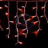 """Гирлянда Айсикл (бахрома) светодиодный, 4,0 х 0,6 м, белый провод """"КАУЧУК"""", 230 В, диоды красные, 128 LED"""