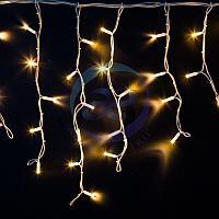 """Гирлянда Айсикл (бахрома) светодиодный, 4,0 х 0,6 м, белый провод """"КАУЧУК"""", 230 В, диоды ТЕПЛЫЙ БЕЛЫЙ, 128 LED"""