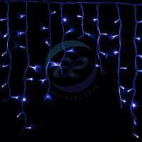 """Гирлянда Айсикл (бахрома) светодиодный, 5,6 х 0,9 м, белый провод """"КАУЧУК"""", 230 В, диоды синие, 240 LED"""