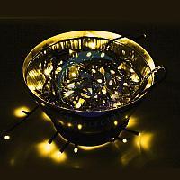Гирлянда Нить 10м, постоянное свечение, прозрачный ПВХ, 230В, цвет: Золотой (Gold), фото 1