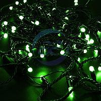 Гирлянда Нить 10м, постоянное свечение, черный ПВХ, 230В, цвет: Зелёный, фото 1