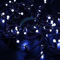 Гирлянда Нить 10м, постоянное свечение, черный ПВХ, 230В, цвет: Синий, фото 1