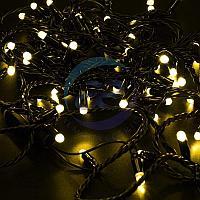 Гирлянда Нить 10м, постоянное свечение, черный ПВХ, 230В, цвет: Жёлтый, фото 1