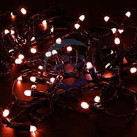 Гирлянда Нить 10м, с эффектом мерцания, черный ПВХ, 24В, цвет: Красный, фото 1
