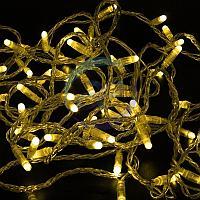 Гирлянда Нить 10м, постоянное свечение, прозрачный ПВХ, 230В, цвет: Жёлтый, фото 1
