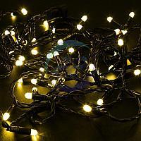 Гирлянда Нить 10м, постоянное свечение, черный ПВХ, 24В, цвет: Жёлтый, фото 1