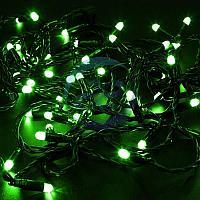 Гирлянда Нить 10м, с эффектом мерцания, черный ПВХ, 24В, цвет: Зелёный, фото 1