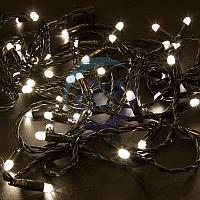 Гирлянда Нить 10м, постоянное свечение, черный ПВХ, 24В, цвет: Тёплый белый, фото 1