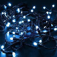 Гирлянда Нить 10м, постоянное свечение, черный ПВХ, 24В, цвет: Синий, фото 1
