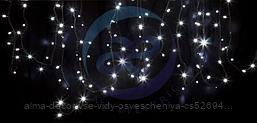 """Гирлянда модульная """"Дюраплей LED"""" 12м 120 LED черный каучук Белая"""