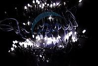 """Гирлянда модульная """"Дюраплей LED"""" 100% Flashing, 20м, черный каучук, 200 диодов, Белая"""