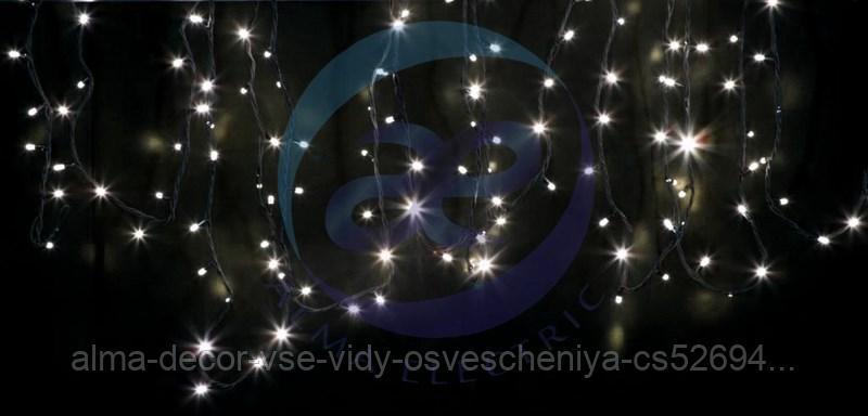 """Гирлянда модульная """"Дюраплей LED"""" 12м 120 LED черный каучук ТЕПЛЫЙ БЕЛЫЙ"""