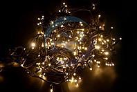 """Гирлянда модульная """"Дюраплей LED"""" 100% Flashing, 20м, черный каучук , 200 диодов, ТЕПЛЫЙ БЕЛЫЙ"""