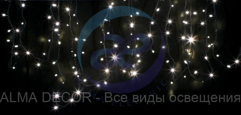 "Гирлянда модульная ""Дюраплей LED"" 20м 200 LED черный ПВХ, ТЕПЛЫЙ БЕЛЫЙ 24В"
