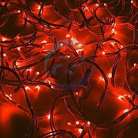 """Гирлянда модульная """"Дюраплей LED"""" 20м 200 LED белый каучук Красная"""