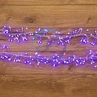 "Гирлянда ""Мишура LED"" 3 м прозрачный ПВХ, 288 диодов, цвет синий, фото 1"