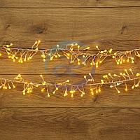 "Гирлянда ""Мишура LED"" 3 м прозрачный ПВХ, 288 диодов, цвет желтый, фото 1"