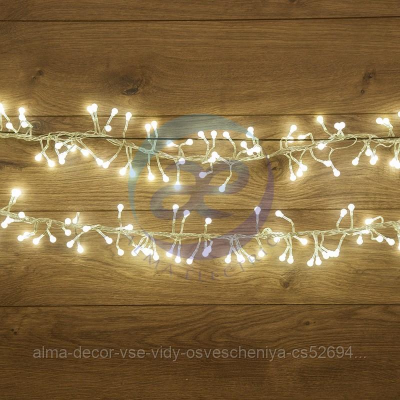"""Гирлянда """"Мишура LED"""" 6 м прозрачный ПВХ, 576 диодов, цвет белый"""