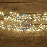 """Гирлянда """"Мишура LED"""" 6 м прозрачный ПВХ, 576 диодов, цвет белый, фото 1"""