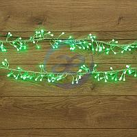 """Гирлянда """"Мишура LED"""" 6 м прозрачный ПВХ, 576 диодов, цвет зеленый, фото 1"""