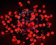 """Гирлянда """"Мультишарики"""" Ø17,5мм, 20 м, черный ПВХ, 200 диодов, цвет красный"""