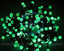 """Гирлянда """"Мультишарики"""" Ø17,5мм, 20 м, черный ПВХ, 200 диодов, цвет зеленый"""