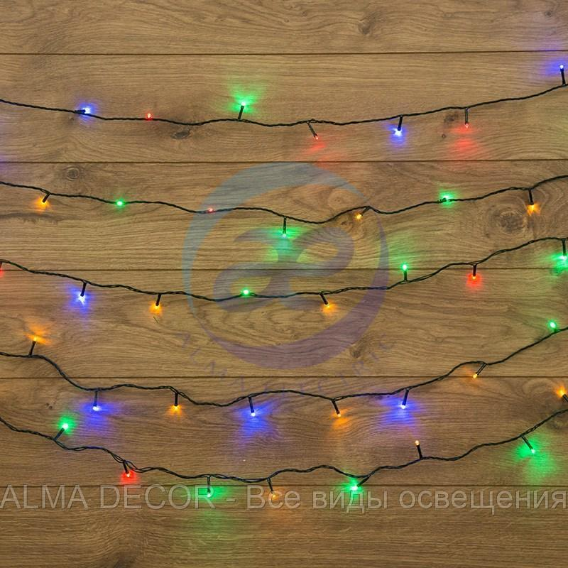 "Гирлянда ""Твинкл Лайт"" 4 м, темно-зеленый ПВХ, 25 LED, цвет мультиколор"