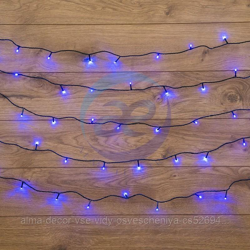 """Гирлянда """"Твинкл Лайт"""" 10 м, темно-зеленый ПВХ, 80 LED, цвет: Синий"""
