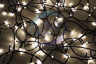 """Гирлянда """"Твинкл Лайт"""" 10 м, черный ПВХ, 100 диодов, цвет ТЕПЛЫЙ БЕЛЫЙ/мультиколор, фото 1"""