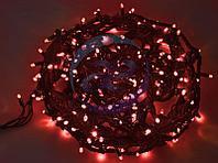 """Гирлянда """"Твинкл Лайт"""" 20 м, черный КАУЧУК, 240 диодов, цвет красный, фото 1"""