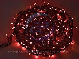 """Гирлянда """"Твинкл Лайт"""" 20 м, черный КАУЧУК, 240 диодов, цвет красный"""
