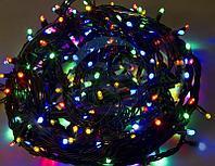 """Гирлянда """"Твинкл Лайт"""" 20 м, черный КАУЧУК, 240 диодов, цвет мультиколор, фото 1"""