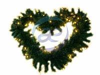 Еловый шлейф искуственный 2,7 м Теплое белое свечение 80 LED flashing (каждый 5-ый)