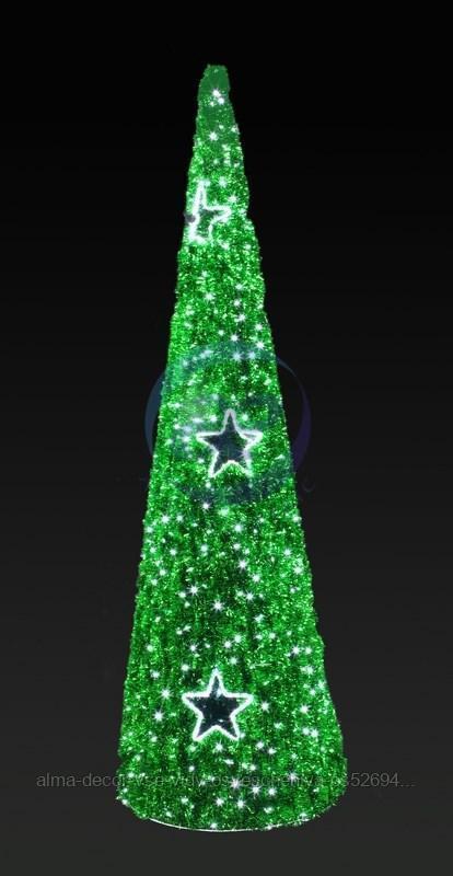 """Фигура """"Ель"""", LED подсветка, высота 5 м, зеленая NEON-NIGHT"""